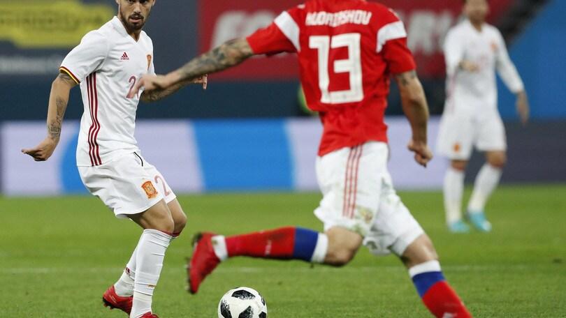 3-3 tra Spagna e Russia nella notte del debutto di Suso