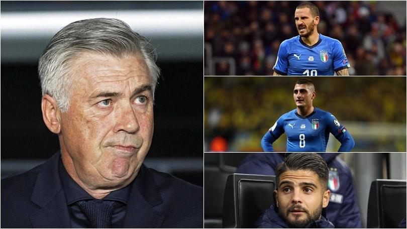 Italia, ipotesi Ancelotti in panchina: ecco come giocherebbe