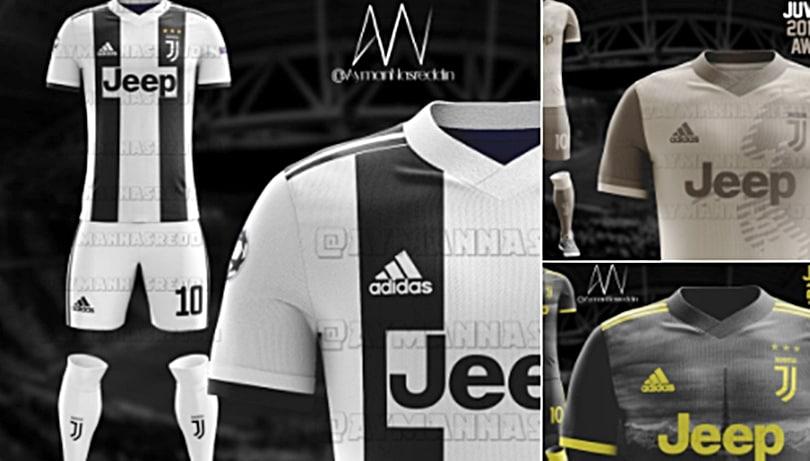 Juventus, in Rete le idee per le nuove maglie 2018/2019
