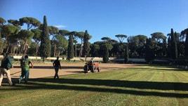 Piazza di Siena, green look