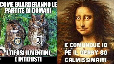 Roma-Lazio, ci siamo: i social la vivono così
