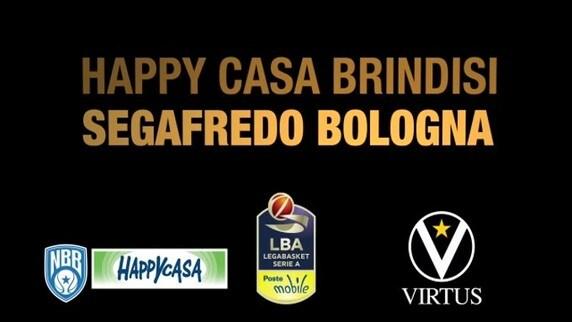 Happy Casa Brindisi-Segafredo Bologna
