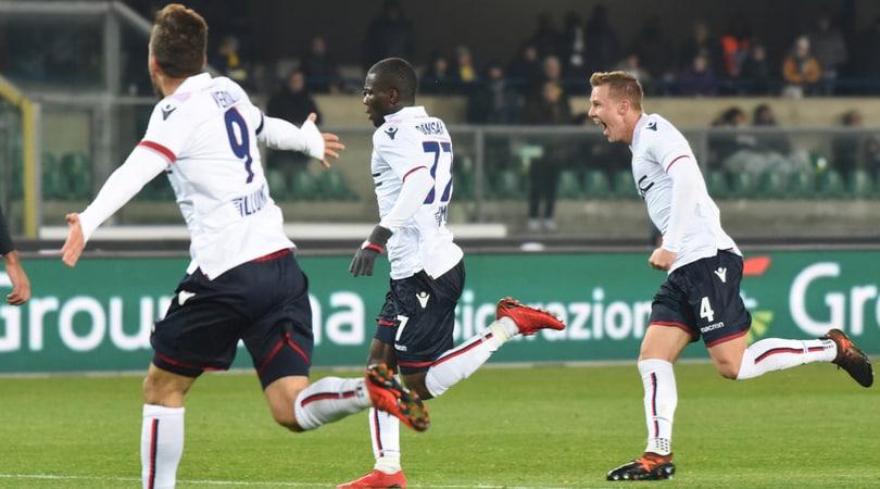 Serie A, Hellas Verona-Bologna 2-3:12' Cerci, 21' Destro, 33' Caceres, 74'Okwonkwo, 76' Donsah