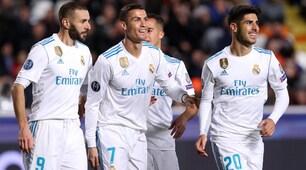 Apoel Nicosia-Real Madrid 0-6: Benzema e Ronaldo, doppietta scacciacrisi