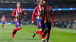 Atletico Madrid-Roma 2-0: Griezmann e Gameiro stendono Di Francesco