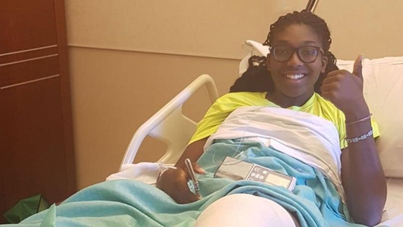 Volley: A2 Femminile, riuscito l'intervento al ginocchio di Terry Enweonwu