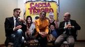 Caccia al tesoro, intervista a Max Tortora, Christiane Filangieri e Carlo Buccirosso