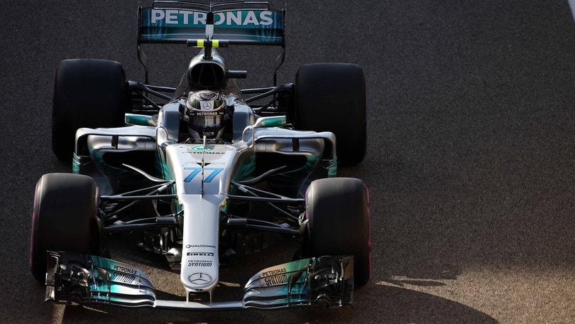 F1, Abu Dhabi: Bottas in pole, Vettel terzo
