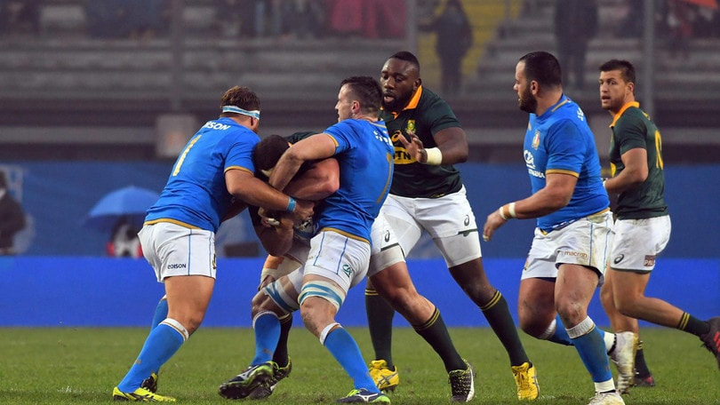 Rugby, l'Italia ancora ko: 6-35 con il Sudafrica