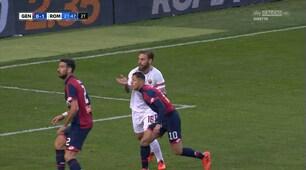 Genoa-Roma, espulso De Rossi: schiaffo a Lapadula