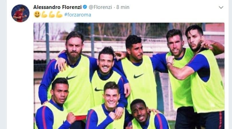 De Rossi, l'abbraccio virtuale di Florenzi su Twitter: «#ForzaRoma»