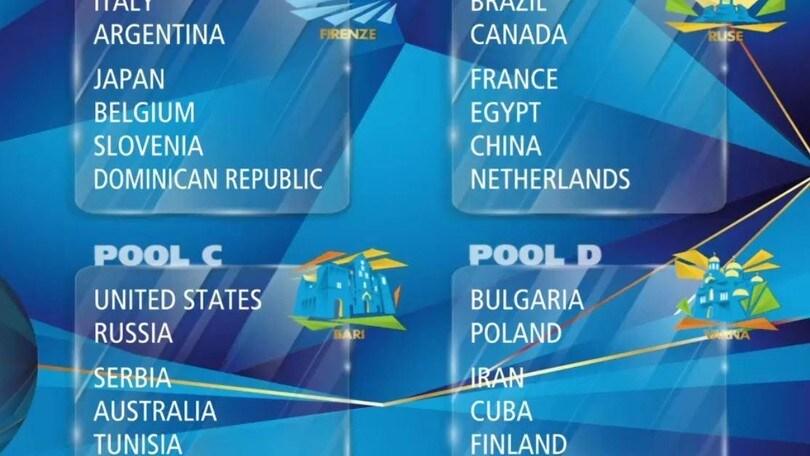 Volley: Mondiali 2018, l'Italia con Argentina, Giappone, Belgio, Slovenia e R.Domenicana