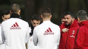 Milan, Gattuso carica la squadra: massima concentrazione in allenamento