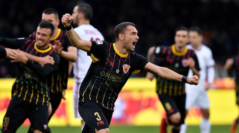 Serie A Benevento-Milan 2-2, il tabellino