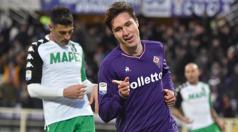 Serie A, Fiorentina-Sassuolo 3-0. Bologna-Cagliari 1-1