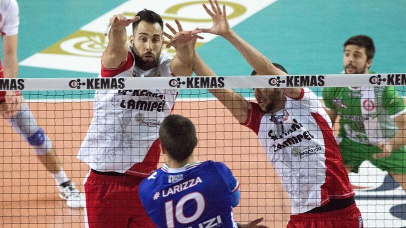Volley: A2 Maschile, Girone Bianco: successi per Santa Croce ed Aversa