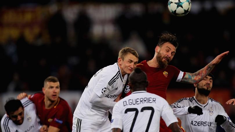Champions League Roma-Qarabag 1-0, il tabellino