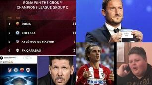 Roma agli ottavi, Simeone in Europa League: quante ironie sui social!