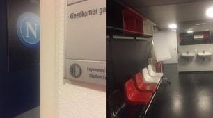 Napoli, ecco lo spogliatoio allo stadio De Kuip di Rotterdam