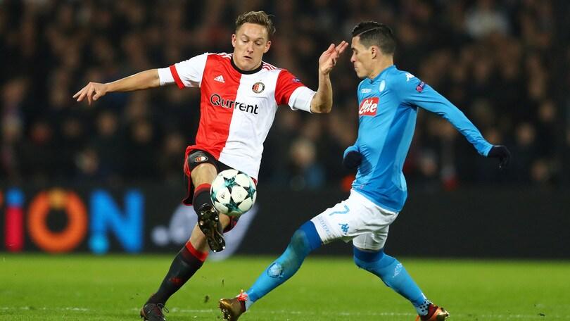 Champions League Feyenoord-Napoli 2-1, il tabellino
