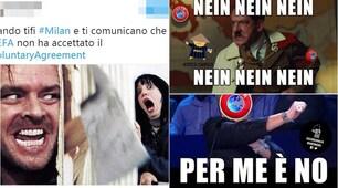 L'Uefa boccia il Milan e i social non perdonano
