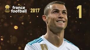 Cristiano Ronaldo alza il Pallone d'Oro, Buffon ai piedi del podio