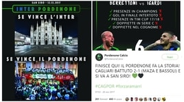 """Inter-Pordenone, lo show sui social dei """"ramarri"""" che fanno rotta su San Siro"""