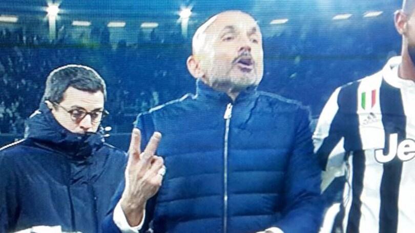 Spalletti a Chiellini: «Sempre a chiedere gialli stai, lascia arbitrare Valeri»