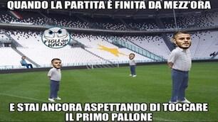 L'Inter troppo abbottonata contro la Juventus: il web all'attacco