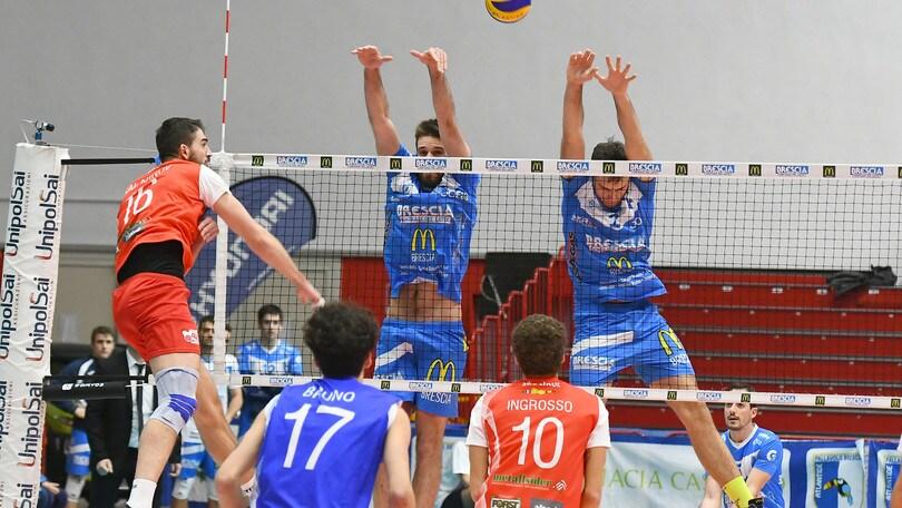 Volley: A2 Maschile, Girone Blu: Brescia contro Bolzano centra la terza vittoria consecutiva