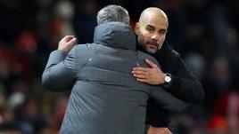 Guardiola batte Mourinho: il derby di Manchester visto dalle panchine