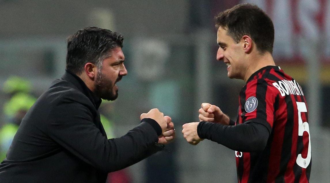 Milan, Gattuso:«Grande vittoria, ma la strada è ancora lunga»