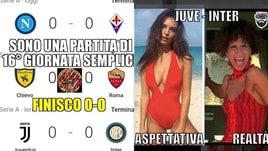 Serie A, il turno dello 0-0 fa sorridere i social