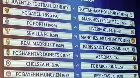 Diretta sorteggi Champions League: agli ottavi Roma-Shakhtar e Juventus-Tottenham