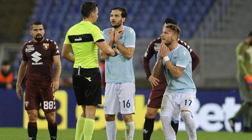 Serie A, Lazio-Torino 1-3: disastro Var, rigore negato e rosso a Immobile