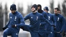 Juventus al lavoro con la neve: risentimento muscolare per Pjanic