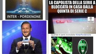 Il Pordenone porta l'Inter ai rigori: il web si scatena