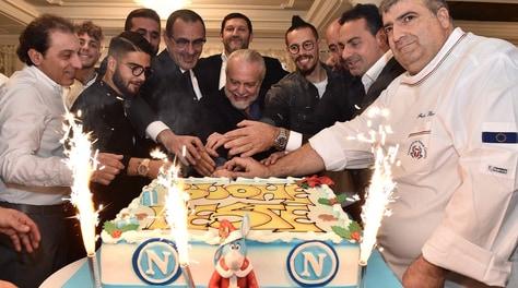Le foto della cena del Napoli