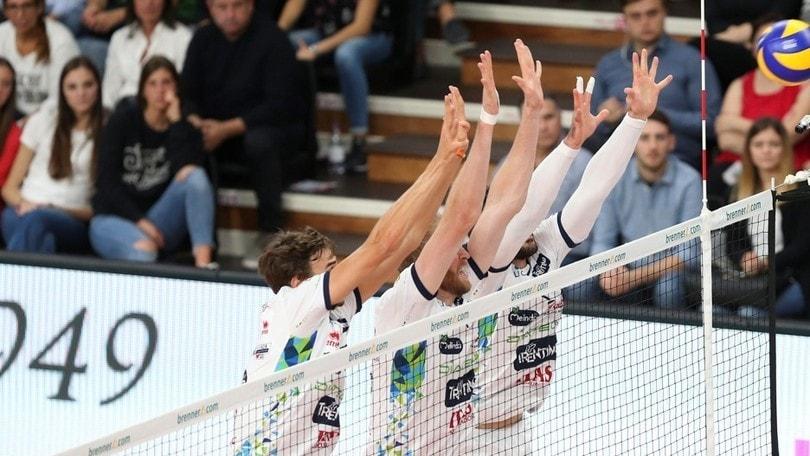 Volley: Superlega, per Trento tutto facile contro Sora