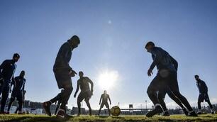 Juventus, allenamento a Vinovo