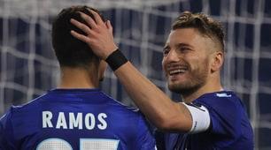 Lazio-Cittadella 4-1: la doppietta di Immobile con la fascia al braccio