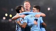 Manchester City-Tottenham 4-1: Guardiola alla 16ª vittoria consecutiva