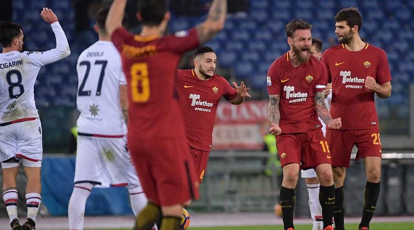 Serie A, Roma-Cagliari 1-0: decide Fazio al 94'