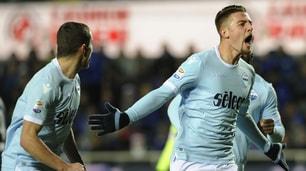 Atalanta-Lazio 3-3,doppiette per Milinkovic-Savic e Ilicic