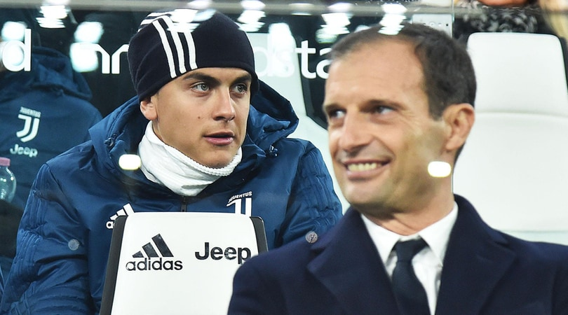 Juventus, Allegri: «Dybala in campo contro il Genoa»