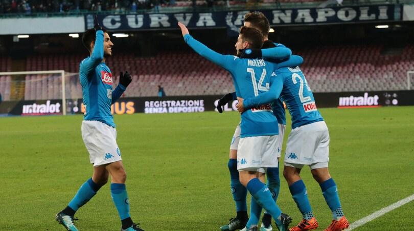 Coppa Italia, Napoli-Udinese 1-0: Insigne entra e decide il match