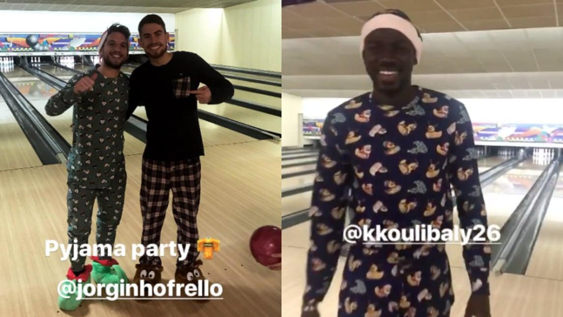 Napoli, festa per Jorginho: pigiama party al bowling   Corriere