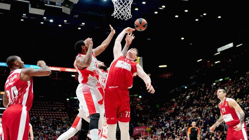 Basket, Eurolega: Milano si rialza, a 2,40 il «2» sull'Unicaja