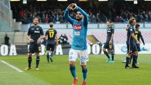 Serie A, Napoli-Sampdoria 3-2: decidono Allan, Insigne e Hamsik