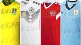 Mondiali 2018, ecco le maglie delle squadre